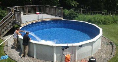 Remplissage d'une piscine hors sol